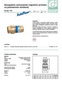 Kompaktni automatski regulator protoka sa polimernim uloškom