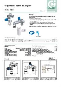 Sigurnosni ventil za bojler