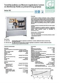 Termička jedinica sa fiksnom regulacijom i setom za distribuciju fluida