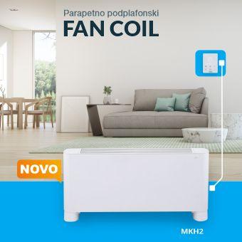 Parapetno podplafonski uređaj   FAN COIL MKH2-V-R3