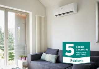 Vaillant produžena garancija na kompresor klima uređaja do 5 godina
